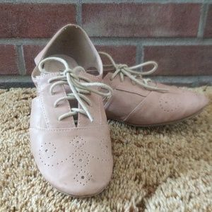 Nude color flats